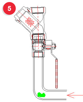 ошибки в монтаже фильтрующих устройств на вертикальных участках трубопровода