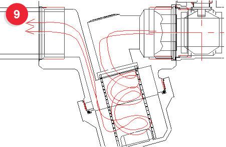 турбулентные вихри позволяют избежать нароста волокнистой и коллоидной массы